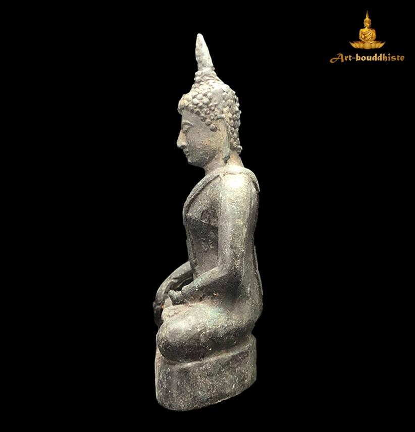 Bouddha En Bronze Culte De Sukhothai A Gauche