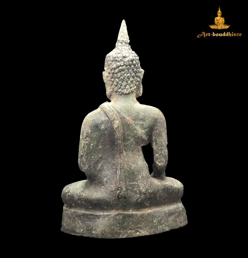 Bouddha En Bronze Culte De Sukhothai De Dos