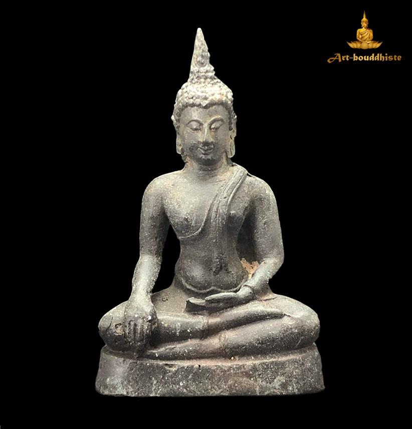 Bouddha En Bronze Culte De Sukhothai De Face