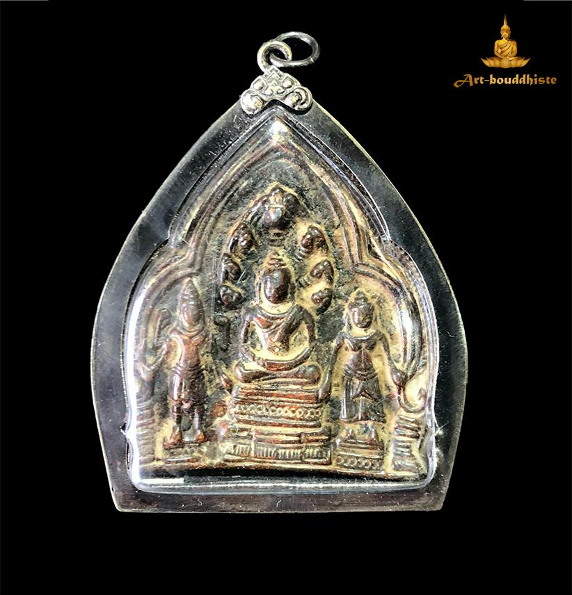 Amulette de Vishnu tenant une arme face avant