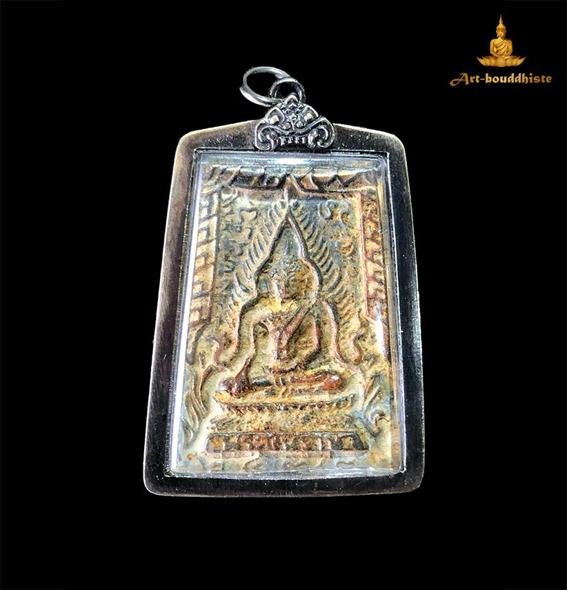 Amulette de Bouddha Amulette Phra Si Rattana Mahathat face avant