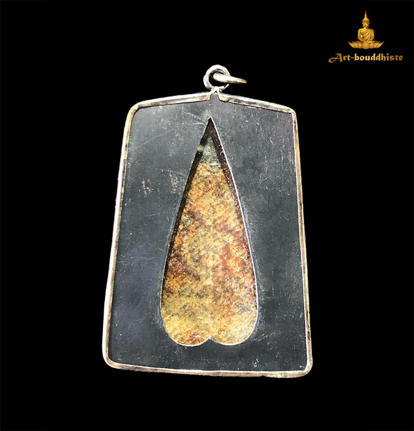 Amulette de Bouddha Amulette Phra Si Rattana Mahathat face arrière