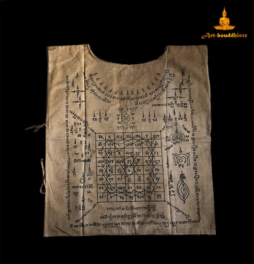 vêtement bouddhiste face arriere