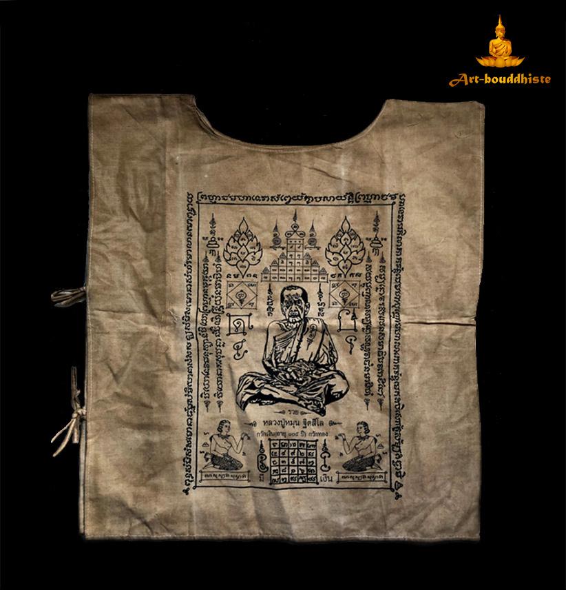 vêtement bouddhique face arrière