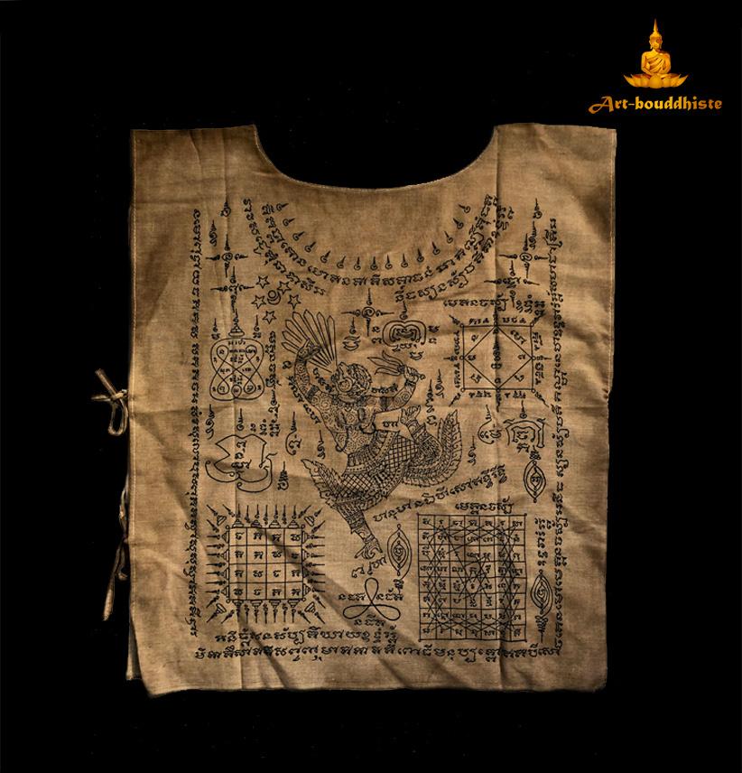 vêtement moine bouddhiqte face arrière