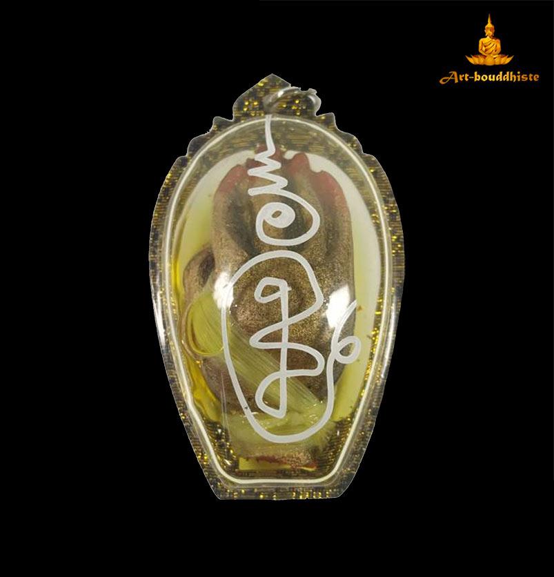 amulette de la chance bouddhiste verso