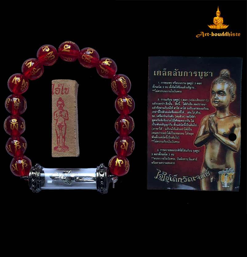 bijou bouddhiste rouge