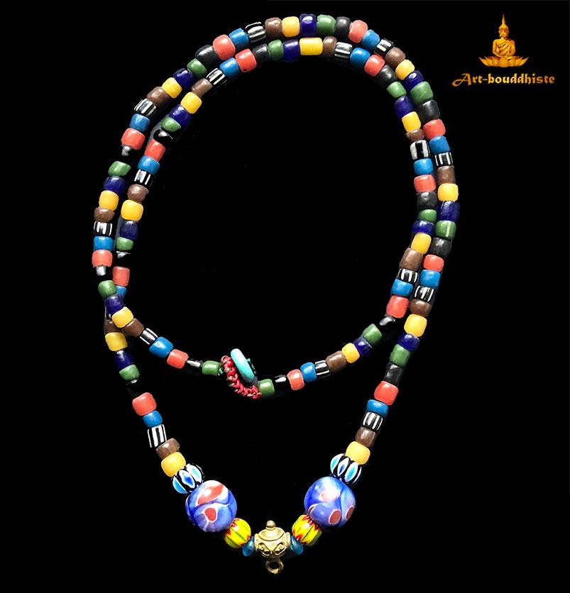 collier porte amulette bouddhiste 2